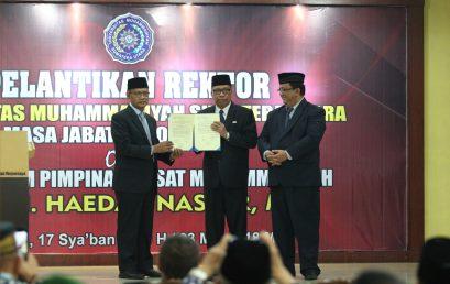 PP Muhammadiyah Lantik Dr. Agussani , MAP Sebagai Rektor UMSU