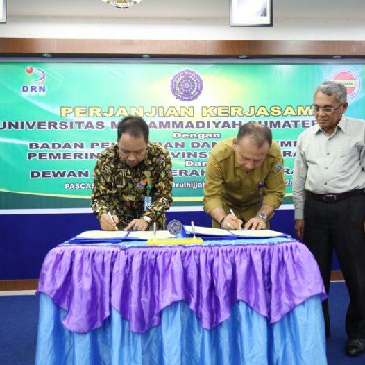 UMSU Gandeng Balitbang dan DRD Sumut  Kerjasama Riset